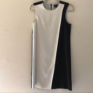 Theory   Black and White Dress Sleeveless Modern 2